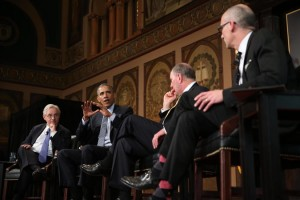 President Obama participated in a panel on poverty at Georgetown University on Tuesday. Credit Doug Mills/The New York Times