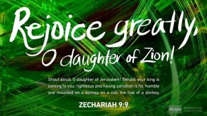 Shout Hosanna! Zech 9:9 prophesies the King who comes in humility, with love and peace. #PalmSunday