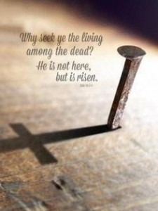 "Mark 16:6 ""Don't be alarmed,"" he said. ""You are looking for Jesus the Nazarene, who was crucified. He has risen! He is not here. See the place where they laid him."